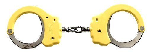 ASP Yellow Identifier Chain Handcuffs (Steel) by Asp Law Enforcement