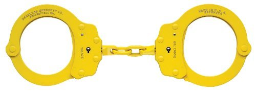 Peerless Handcuff Company, 752B Oversize Chain Link Handcuffs, Yellow