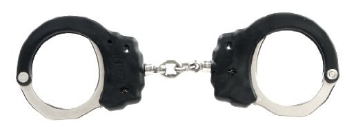 ASP Black Chain Handcuff with 2 Pawl Lockset (Blue-High Security) by ASP