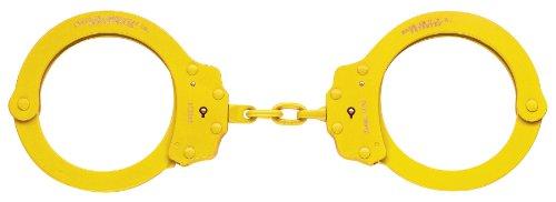Peerless Handfessel Company, Oversize Kette Handfessel, Modell 7030N, Oversize Kette Link Handfessel Gelb Yellow Finish