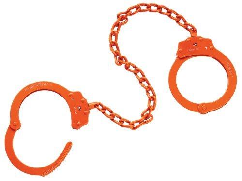 Peerless Handcuff Company, Leg Iron, Model 703O, Leg Iron – Orange Finish