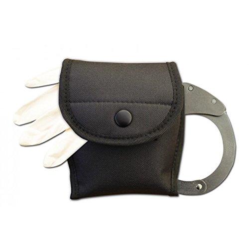 Hochwertiges G8DS® Kombi-Etui Handschellen- u. Handschuhetui schwarz 2359