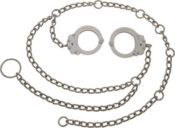 Peerless Handcuff Company Waist Chain with Separated Cuffs and 54-Inch Chain, Nickel Finish by Peerless Handcuffs