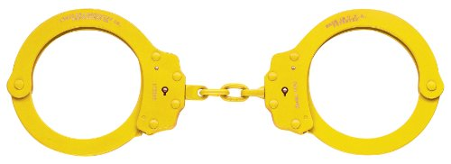 Peerless Handcuff Company, Handschellen mit Kette, Modell 700-6x, gelbes Finish