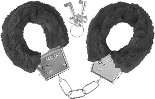 Handschellen mit Plüsch Farbe Schwarz