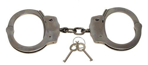Handschellen, Edelstahl, mit Sicherheitsrille, 2 Schlüssel