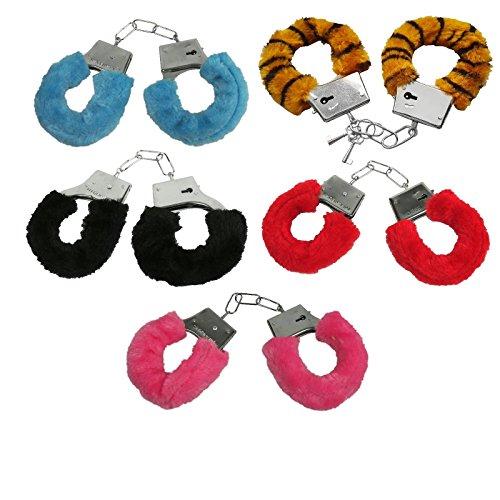 Handschellen Plüsch / Plüschhandschellen  – Mit Sicherheitshebel und 2 Schlüsseln