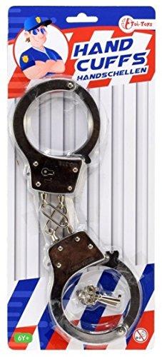Spielzeug-Handschellen aus Metall, 2 Schlüssel